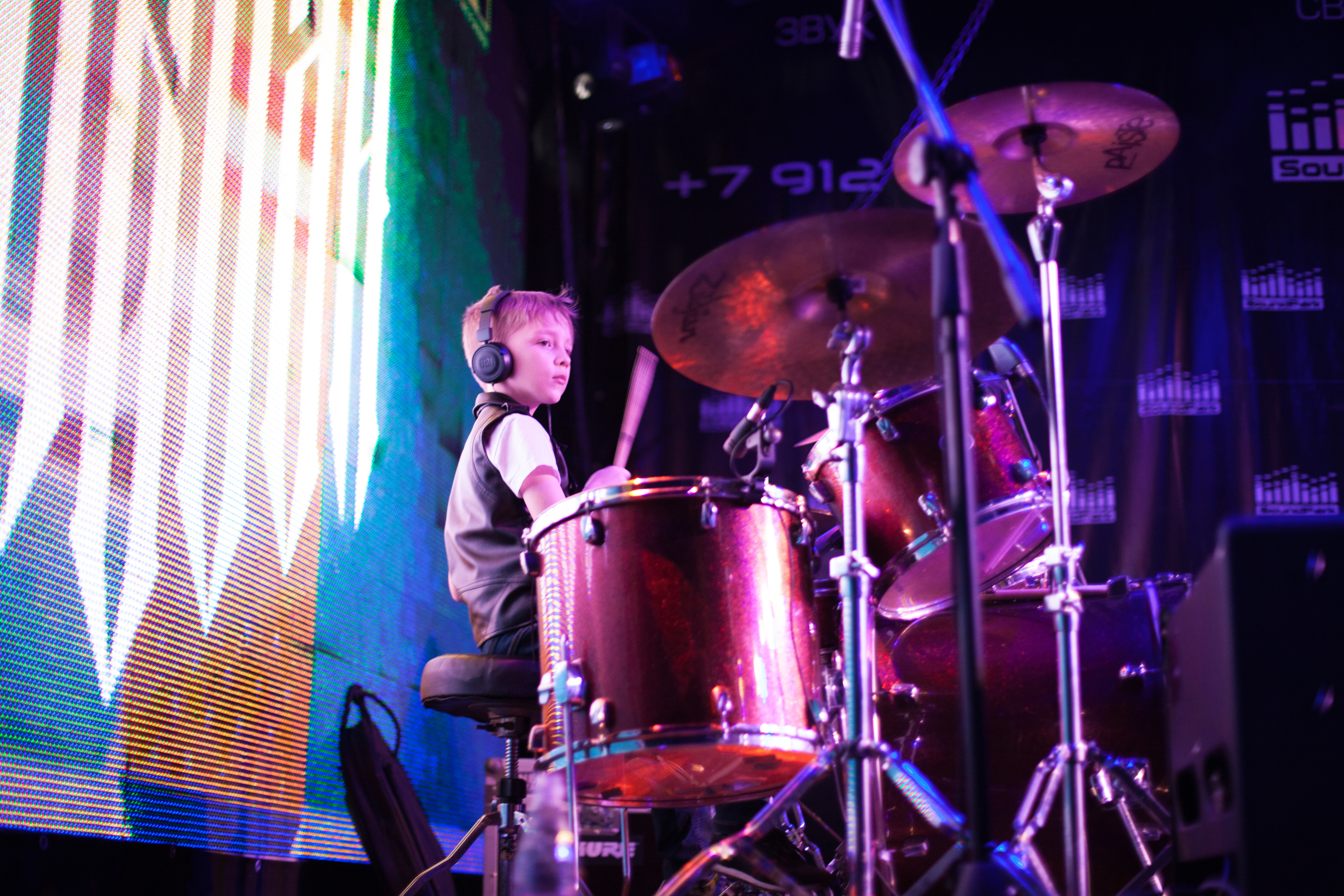 обучение на барабанах с 7 лет